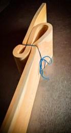 Legno di larice e corda (90x12x18 cm)