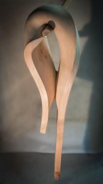 legno di cirmolo e pinza 82x18x19 cm)