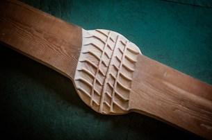 legno di larice 113 x 28 x 6 cm