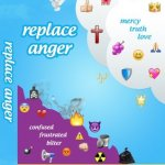Replace Anger: empty yourself of anger by being filled with mercy, truth, love, kindness, and a tender heart