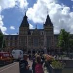 Klassieke kijk op Amsterdamse grachtengordel, Paleis en Rijksmuseum