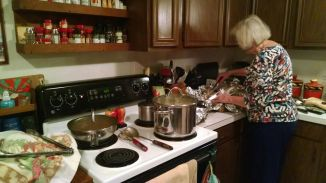 Natalie's mom doing her awesome cooking thing!