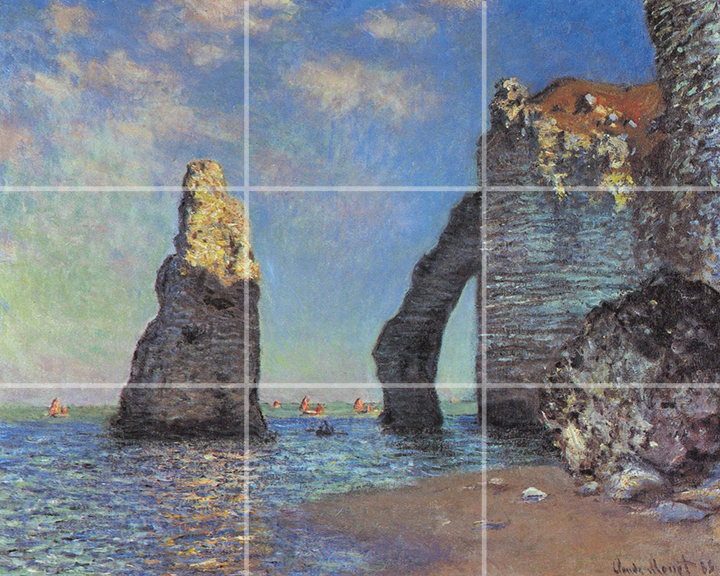 The rocky cliffs of Étretat by Monet
