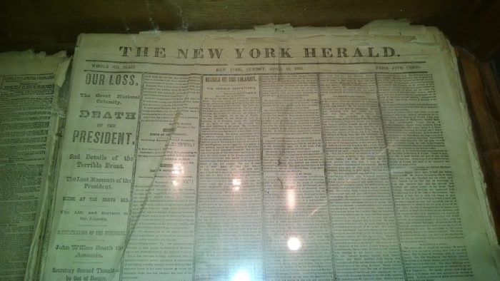 Issue of the New York Herald days after the Lincoln Assassination