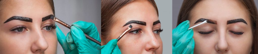dying henna brows