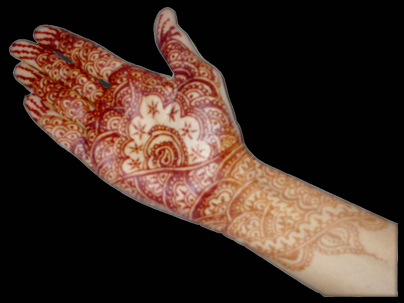 henna tattoo design (Mehndi) with carving arts have a very high