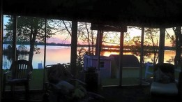The view from screened porch