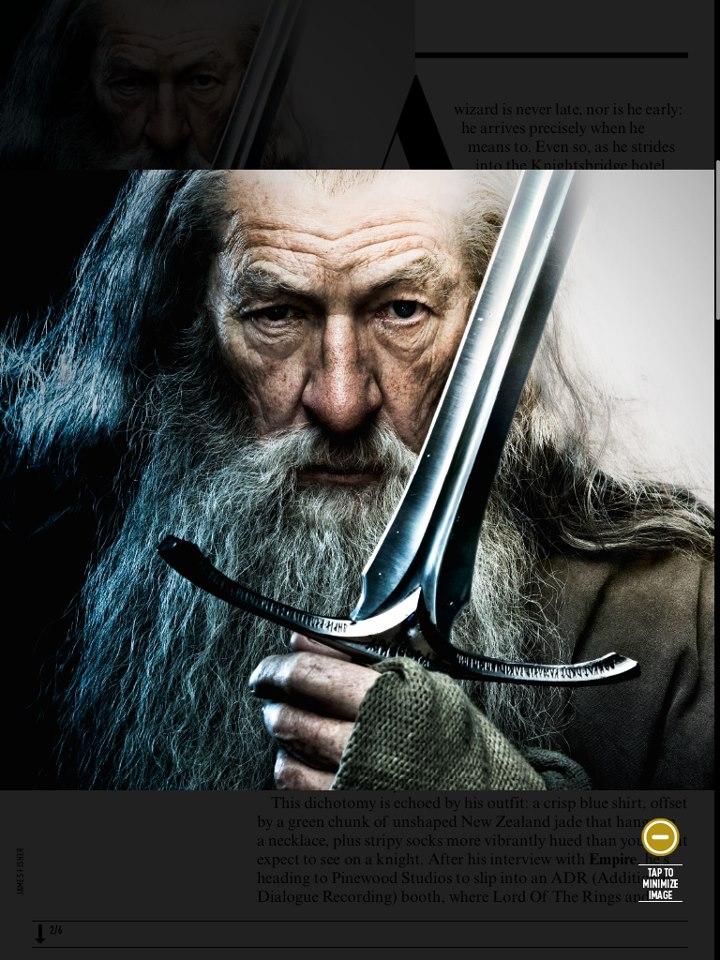GandalfSword 225x300 Хоббит: обилие новых фотографий   Радагаст и др.