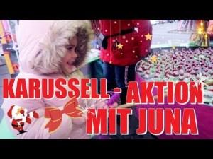 Juna Wünsche mit Papa Henning Merten auf dem Weihnachtsmarkt