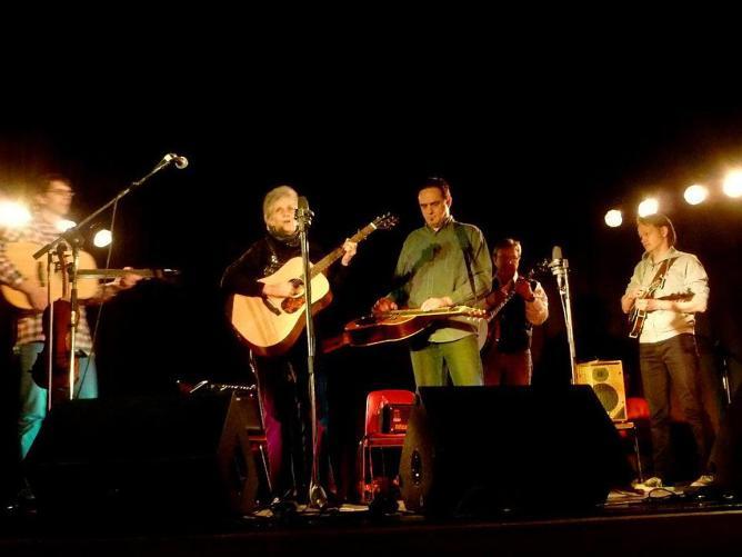 A concert of Musique Acoustique teachers in Virton , with Sue Thompson, Roberto Dalla Vecchia and Jesper Rubner Petersen