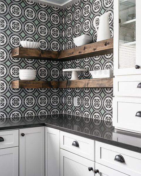 henry tile wall accent kitchen