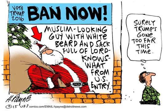 Image result for cartoons of santa trump