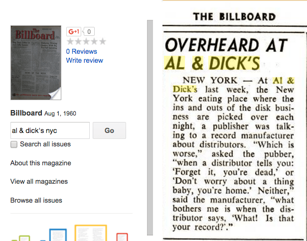 BILLBOARD Magazine excerpt