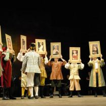 The portrait scene - Henry VIII The Musical