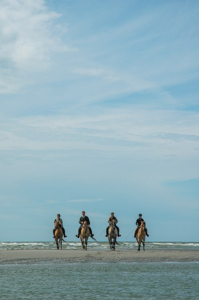 Ride with the Henson horses in the Bay of Authie