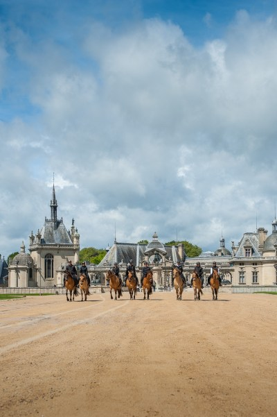 Henson horse ride at the Castle of Chantilly