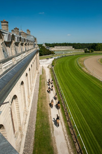 Ride along the stables of the Living Museum of the Horse and the racecourse in Chantilly