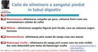 sange in tubul digestiv