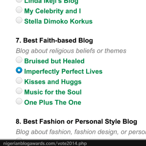 Just click on the box beside Imperfectly perfect lives...scroll down, click submit and that's it...