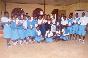 With students from Ado grammar school