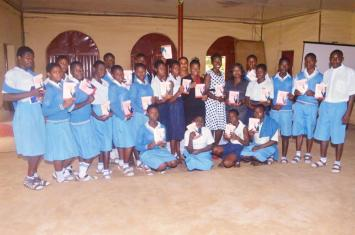 "Students who attended ""10 steps to walking in purpose"" book launch"