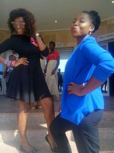 I and Amaka doing photo shoot.lol