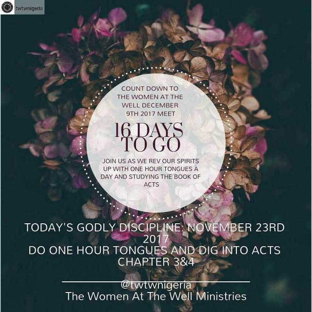 Count down to The women at the well last meethellip
