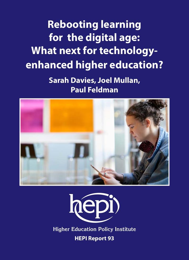 HEPI report cover