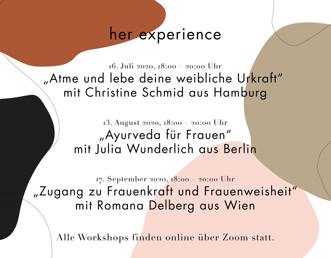 her experience Workshops