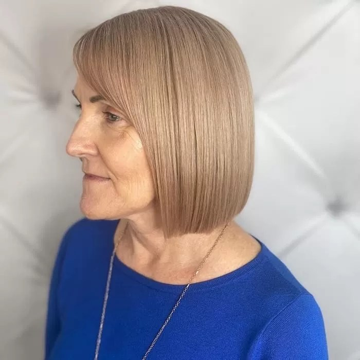 blunt bob for older women