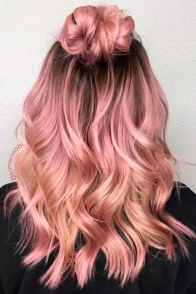 sweet-strawberry-blonde-hair-rainbow-rose-gold-copper-wavy-balayage