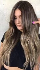 Ash Blonde Balayage in Long Hair