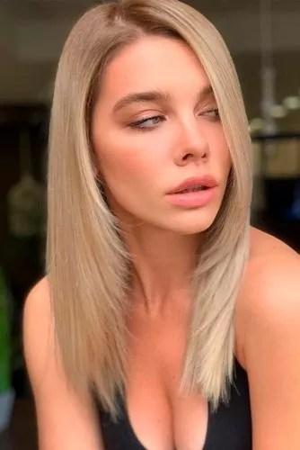 Cappuccino Blonde Hair #layeredhair #sleekhair