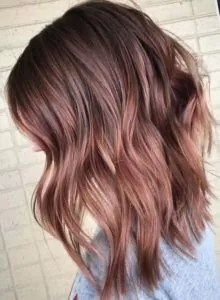 Subtle Rose Gold Balayage