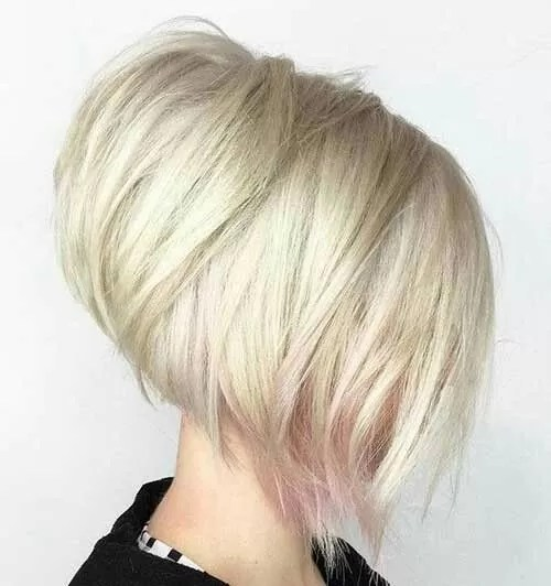 Image result for A-Line Inverted Stacked Bob: