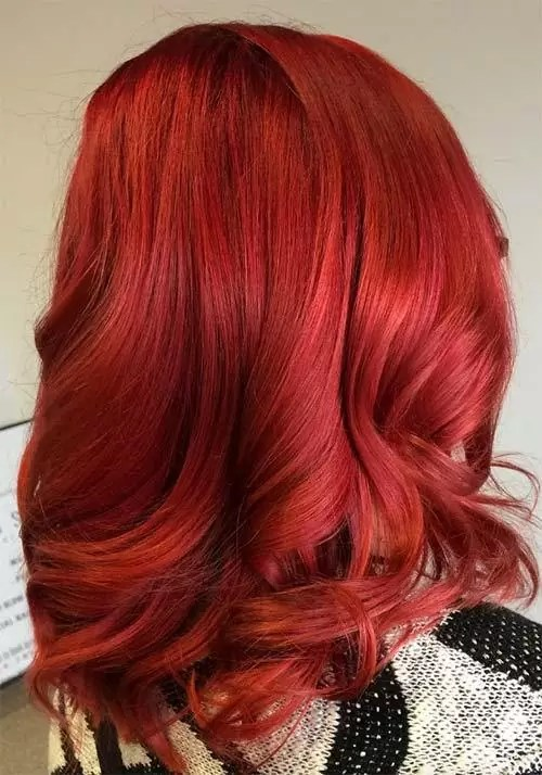 Image result for shiny red hair