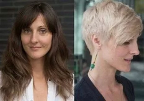 Long hair to stunning pixie hair transformation