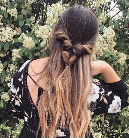Half-Up Tail Braid