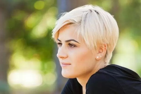 blonde bob and pixie haircut