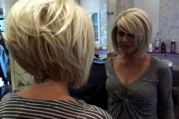 cute bob hairstyle for older women