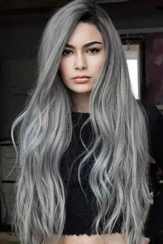 Salt And Pepper With Black Roots #saltandpepperhair #greyhair