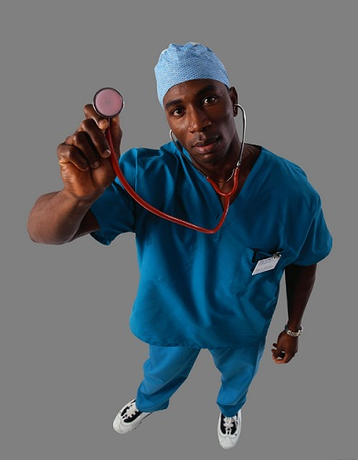 Surgeon Holding Stethoscope
