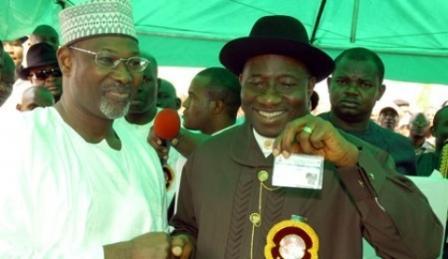 INEC Chairman, Attahiru Jega and President Jonathan