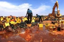 Beer destroyed in Kano, Nigeria