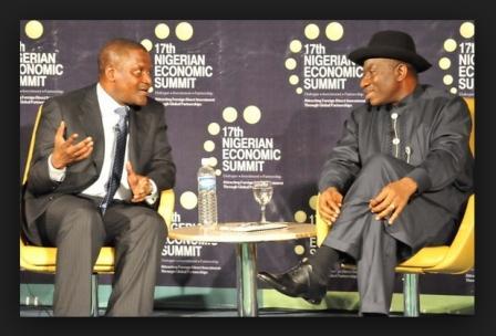 Aliko Dangote and President Goodluck Jonathan
