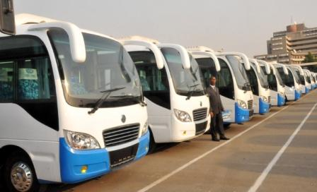 PIC 15. SOME OF THE BUSES FOR THE FEDERAL GOVERNMENT-ASSISTED PUBLIC MASS TRANSPORT SCHEME LAUNCHED BY PRESIDENT GOODLUCK JONATHAN IN ABUJA ON SUNDAY (8/1/12).