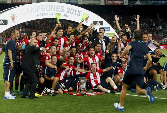 976ced6d0 Athletic Bilbao have clinched the Spanish Super Cup for the first time  since 1984 after holding Barcelona to a 1-1 draw in their second-leg clash  at the Nou ...