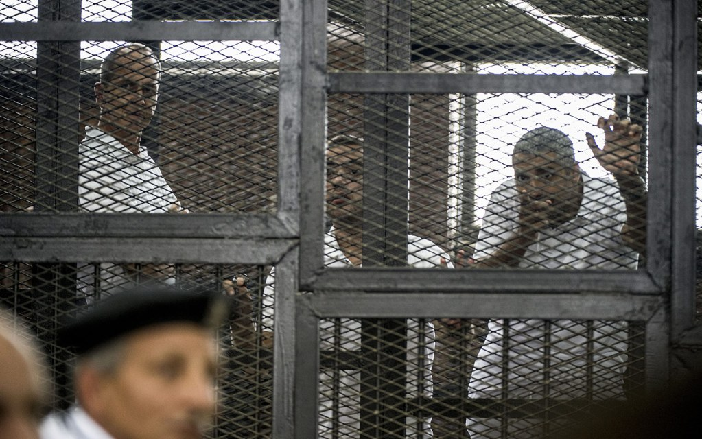 EGYPT-POLITICS-UNREST-MEDIA-TRIAL-JAZEERA-VERDICT