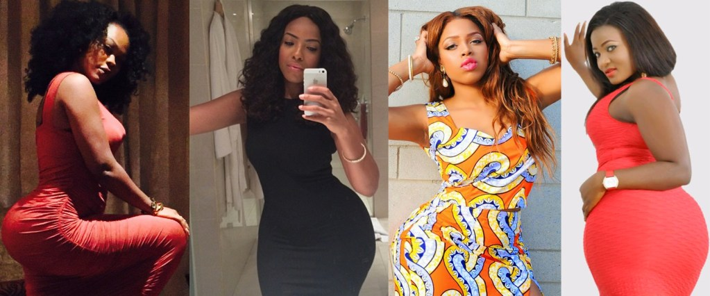 Daniella Okeke, Joselyn Dumas, Evia Simon and Tracy Ogbonna are among Nollywood actresses with killer figures