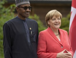 Muhammadu Buhari and Angela Merkel